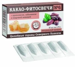 Фито-свечи при геморрое №6 (Кавказ)