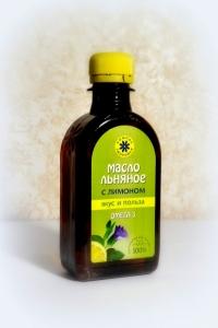 Льняное масло с лимоном сибирское